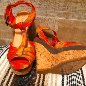 👠NEW Orange sexy wedged shoes